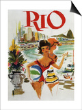 Rio Travel Poster Posters