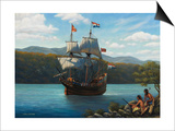 Half Moon on the Hudson Prints by John Zaccheo