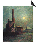 Factory by Moonlight Art by Maximilien Luce