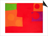 Two Vermillions, Green and Purple in Red: March 1965 Print by Patrick Heron