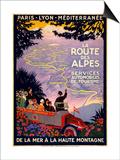 La Route Des Alpes Posters