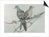 Two Birds on Branch Posters by Rusty Frentner