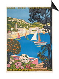 Summer on the Cote D'Azur (L'Ete Sur La Cote D'Azur), 1926 Print by Guillaume G. Roger
