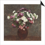 Asters in a Vase, 1875 Posters by Ignace Henri Jean Fantin-Latour