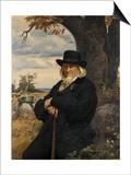 Portrait of the Poet Heinrich August Hoffmann Von Fallersleben, 1898 Posters by Ernst Henseler
