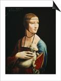 Lady with an Ermine (Portrait of Celilia Gallerani), C. 1490 Poster by  Leonardo da Vinci