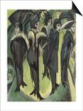 Five Women on the Street, 1913 Poster par Ernst Ludwig Kirchner