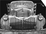 Chev 4 Sale - Black and White Print by Larry Hunter