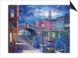 Rialto Bridge Posters by John Zaccheo