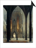 Cathedral in Winter, 1821 Print by Ernst Ferdinand Oehme