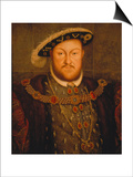 King Henry Viii, of England Print by Hans Holbein the Younger