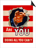Are You Doing All You Can Posters