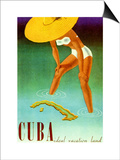 Cuba Ideal Vacation Poster