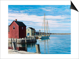 Sail Boat Rockport Prints by Bruce Dumas