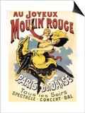 Au Joyeaux Moulinrouge Print