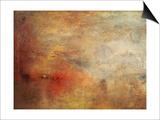 Joseph Mallord William Turner - Sundown over a Lake, 1840 - Reprodüksiyon