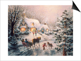 Christmas Visit Posters by Nicky Boehme