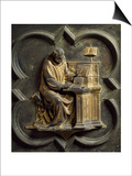 Church Father, Bronze Panel Posters af Lorenzo Ghiberti