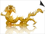 Giant Golden Chinese Dragon Posters by  Gamjai