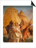 Eurybates and Talthybius Lead Briseis to Agamemnone Art by Giambattista Tiepolo