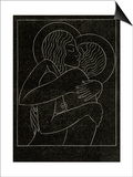 Divine Lovers, 1922 Print by Eric Gill