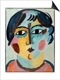 Girl's Head; Madchen Kopf Poster by Alexej Von Jawlensky