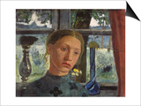 Girl's Head in Front of the Window Prints by Paula Modersohn-Becker