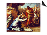Judgement of Solomon Prints by Luca Giordano