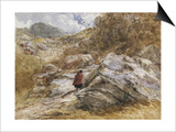 Mountain Pass at Bettws-Y-Coed, 1851 Poster by David Cox
