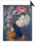 Phantasieblumen Und Anemonen Prints by Odilon Redon