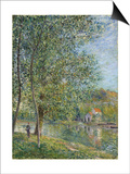Morning Near the Loing; Matin Pres Du Loing, 1879 Print by Alfred Sisley