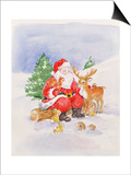 Santa and Friends Prints by Diane Matthes