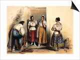 Women of Puebla, after 1836 Prints by Carlos Nebel