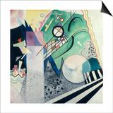 Green Composition, 1923 Plakat af Wassily Kandinsky