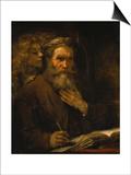 Der Hl,Matthaeus Und Der Engel, 1661 Prints by  Rembrandt van Rijn