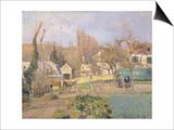 Kitchen Garden at the The L'Hermitage, Pontoise, 1874 Art par Camille Pissarro