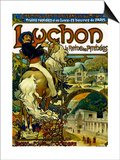 Poster for Trains to Luchon, France, 1895 Print by Alphonse Mucha