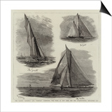The Yachts Genesta and Puritan Competing This Week at New York for the International Challenge Cup Prints by William Lionel Wyllie