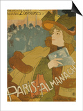 French Poster Advertising the Paris Almanac, Paris, 1894 Poster by Georges de Feure