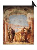 Minerva Restraining Achilles from Killing Agamemnon Posters by Giambattista Tiepolo