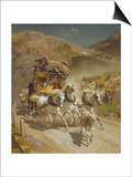 The Gotthard Pass Post Coach, 1873 Prints by Rudolf Koller