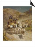 The Gotthard Pass Post Coach, 1873 Prints by Rudolf Koller