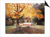 Autumn Garden Poster by Victor Charreton