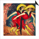 Dancers in Red, 1914 Prints by Ernst Ludwig Kirchner