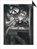 Acetylene Welders, 1917 Prints by Christopher Richard Wynne Nevinson