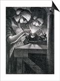 Acetylene Welders, 1917 Prints by Christopher Richard Wynne Nevinson