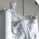 Abraham Lincoln Statue, Lincoln Memorial, Washington Dc, USA Prints by robert cicchetti