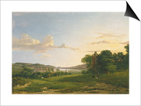 A View of Cessford and the Village of Caverton, Roxboroughshire in the Distance, 1813 Print by Patrick Nasmyth