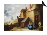 Cottage in a Landscape Art by David Teniers the Younger