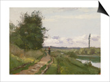 The Banks of the Seine at Bougival, 1864 Affiches par Camille Pissarro